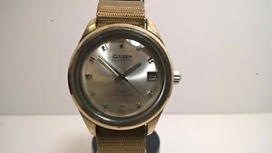 Very Rare White Gold Citizen Jet Auto Dater ADOO 51309-Y 21J Auto; Early X-Case