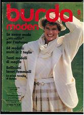 BURDA MODEN 9 SEPTEMBER 1984 MODA ITALIANA FASHION MAGAZINE
