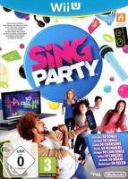 Sing Party Nintendo Wii U UK PAL MINT - Fast Delivery