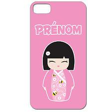 Coque 3 D Téléphone Personnalisée - Iphone 4 4S - Kokeshi poupée japonaise rose