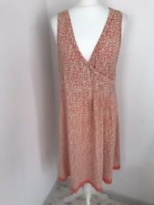 Sandwich Orange Spotted Summer Dress Size XL Wrap Sleeveless Cotton
