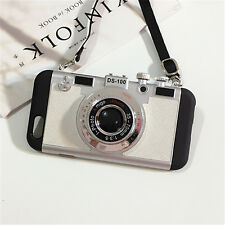Fashion 3D Camera Shockproof Hard Back Phone Case Cover For iPhone X 7 6s 8 Plus