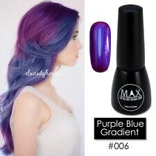 MAX 7ml Nail Art Color UV LED Lamp Soak Off Gel Polish#006-Purple Blue Gradient