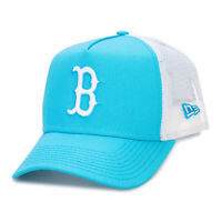 New Era Mens Boston Red Sox 9Forty Trucker Cap in Blue - OSFM