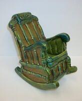 Rare Vintage Lefton Japan Rocking Chair Planter H4999