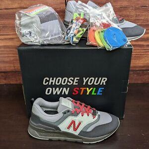 New Balance 997 x New Era 9FIFTY Men's 10 Black Grey Multicolor shoes snapback