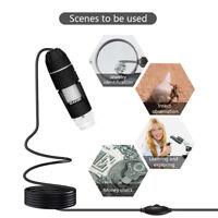 50-1000X/500X Digital Electron Microscope 8 LED Endoscope USB 2.0 Magnifier E5B4