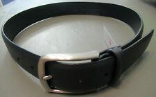 Original Penguin Men's Nappa Leather Belt, Navy Blue, 30