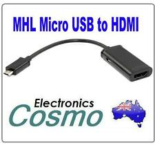 MHL Micro USB to HDMI Cable Adapter For HTC EVO Galaxy Samsung S2 I997 3D Flyer