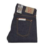 Nudie, Tilted Tor, Jeans, Dry Pure Navy, Dunkelblau, 112444, Slim, Tapered, Neu
