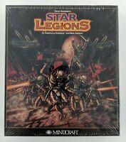 "NEW Star Legions Mindcraft IBM Tandy 3.5"" Disk Vintage Big Box Factory Sealed"