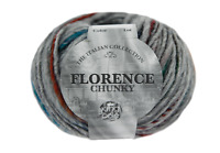 Florence chunky Italian style yarn  6 x 50g yarn ball pack  by king Cole