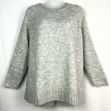 Caslon Women's Crew Neck Sweater Size 3X Heather Gray Long Sleeves Pullover NWT