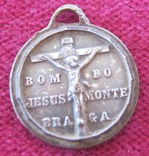 Antique Catholic Religious Holy Medal / BOM DO JESUS MONTE BRAGA