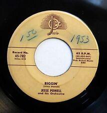 JESSE POWELL 45 Riggin' / Moonlight in Vermont (Instrumentals) JOSIE R&B w4249