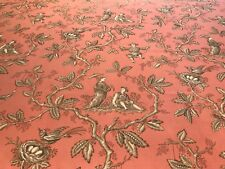 """COLEFAX & FOWLER BRICK """"CHINESE TOILE"""" CHINOISERIE ASIAN COTTON PRINT FABRIC!"""