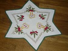 Alte  Weihnachtsdecke Sternform  44  cm / 44 cm Handarbeit  Shabby Chic Vintage