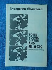 To Be Young Gifted And Black - Cherry Lane Playbill - Feb./March 1969