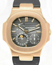 Patek Philippe Jumbo Nautilus 18k Rose Gold Watch Box/Archive 5712R