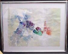 Edward Goldman 1985 Abstract Acrylic Painting Artist Signed