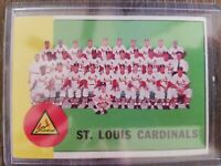 1963 TOPPS #524 ST. LOUIS CARDINALS TEAM CARD W/MUSIAL & GIBSON - VG