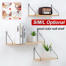 Set of 3 Floating Shelves Bookshelf Holding Wall Mount Shelf Display