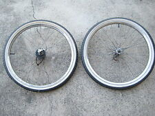 "Raleigh Vintage Set Of  22"" Matching Wheels Rear 3 Speed Hub"