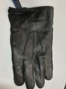 Polo Ralph Lauren Men's Water-Repellant Leather Gloves LEFT GLOVE ONLY Black 2XL