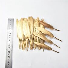 Feathers Duck Gold Color DIY Wedding Parties Decoration 10-15cm