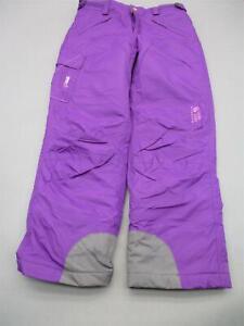 Mountain Hardwear Size M(10-12) Girls Purple Insulated Nylon Snow Pants T446