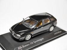 Alfa Romeo 156 Sportwagon in schwarz nero negro noir black, Minichamps in 1:43!