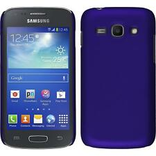 Hardcase for Samsung Galaxy Ace 3 rubberized purple Cover + protective foils