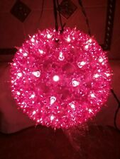 1 PRE-OWNED PURPLE 100 LIGHT INDOOR/OUTDOOR HANGING STARLIGHT SPHERE