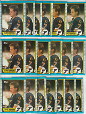 Cliff Ronning St. Louis Blues 1989-90 Topps Hockey 19 Card Rookie Lot