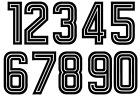 Felt 1970's 80's Football Shirt Soccer Numbers Heat Print Football Vintage A