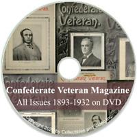Confederate Veteran Magazine - Civil War History - 372 Issues 1893-1932 on DVD