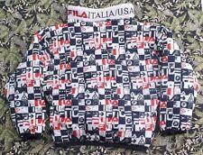 VTG 90s FILA COLORBLOCK JACKET INTERNATIONAL GAMES COAT PARKA  ITALIA/USA SZ XXL