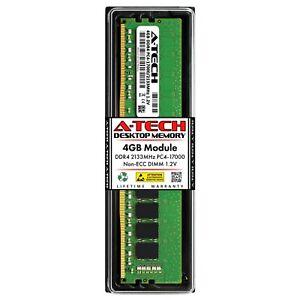 A-Tech 4GB PC4-17000 Desktop DDR4 2133 MHz Non ECC 288-Pin DIMM Memory RAM 1x 4G