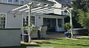 wooden lean to pergola with free fitting