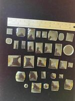 32 Vintage Glass Wrist Watch Crystals Various Sizes 1950's