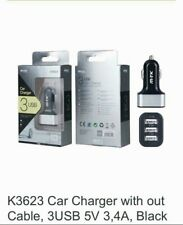 3 Port In Car Charger Adapter For Apple iPhone & Samsung Galaxy