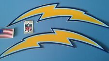 San Diego Chargers football helmet decals set