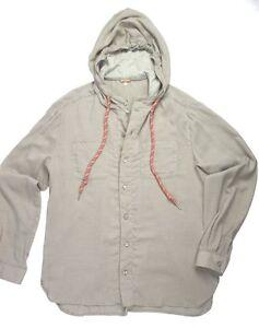 John Galliano beige cotton hooded shirt
