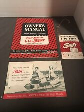 Owner Mannal 1951 Scott-at Water 1-16 Shift Boat Motor