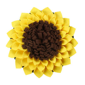 Durable Sunflower Shape Snuffle Dog Sniffing Mat Puppy Training Blanket Pet Pad