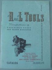 Rare R and L Tools catalog, Bristol Street, Philadelphia, Pa