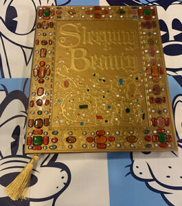 """Disney Parks Sleeping Beauty 9 x 11"""" inch Storybook Style Journal Book Jewels"""