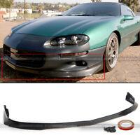 Fit 98-02 Camaro RA Style PU Front Bumper Lip Spoiler Body Kit Add On Unpainted