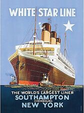 White Star Line metal sign  400mm x 300mm   (hb)