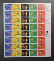 US SCOTT 2553 - 57 PANE OF 40 SUMMER OLYMPIC STAMPS 29 CENT FACE MNH